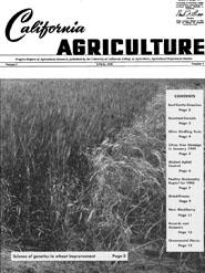 California Agriculture, Vol. 3, No.4