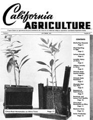 California Agriculture, Vol. 5, No.10