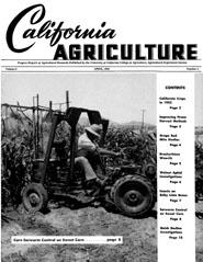 California Agriculture, Vol. 6, No.4