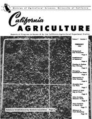 California Agriculture, Vol. 7, No.2