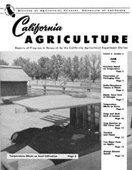 California Agriculture, Vol. 8, No.6