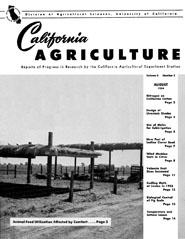 California Agriculture, Vol. 8, No.8