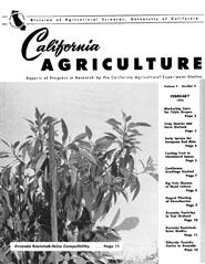 California Agriculture, Vol. 9, No.2