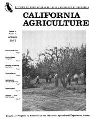 California Agriculture, Vol. 15, No.10
