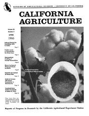 California Agriculture, Vol. 20, No.4