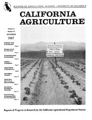 California Agriculture, Vol. 21, No.12