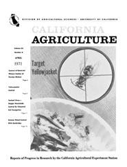 California Agriculture, Vol. 25, No.4
