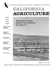California Agriculture, Vol. 27, No.4