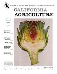 California Agriculture, Vol. 27, No.10