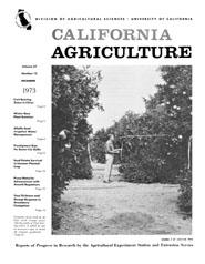 California Agriculture, Vol. 27, No.12
