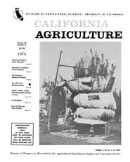 California Agriculture, Vol. 28, No.6