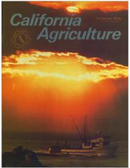 California Agriculture, Vol. 30, No.10