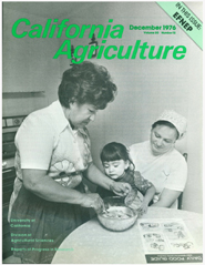 California Agriculture, Vol. 30, No.12