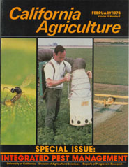 California Agriculture, Vol. 32, No.2
