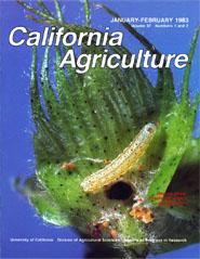 California Agriculture, Vol. 37, No.1