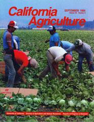 California Agriculture, Vol. 38, No.9