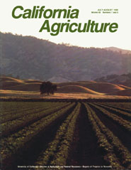 California Agriculture, Vol. 40, No.7