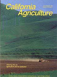 California Agriculture, Vol. 48, No.4